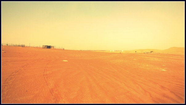 The sand stretches as far as the eyes can see..