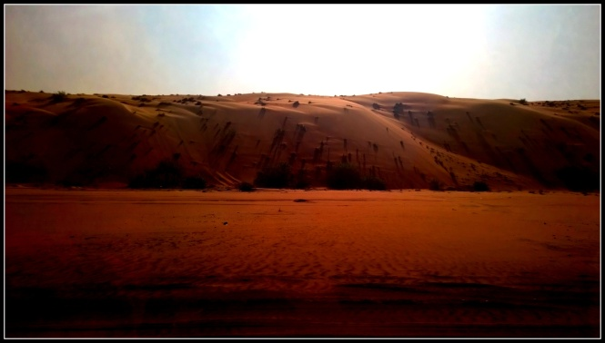 The towering dunes..