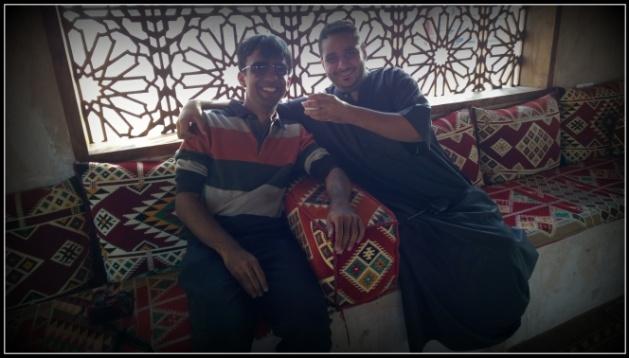 At the Majlis with Majid..