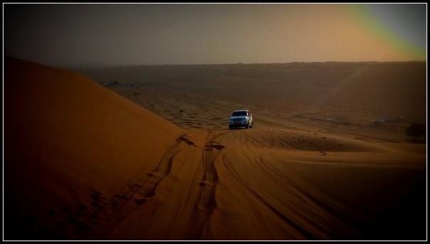 Our Land Cruiser Prado arrives at the vantage point..
