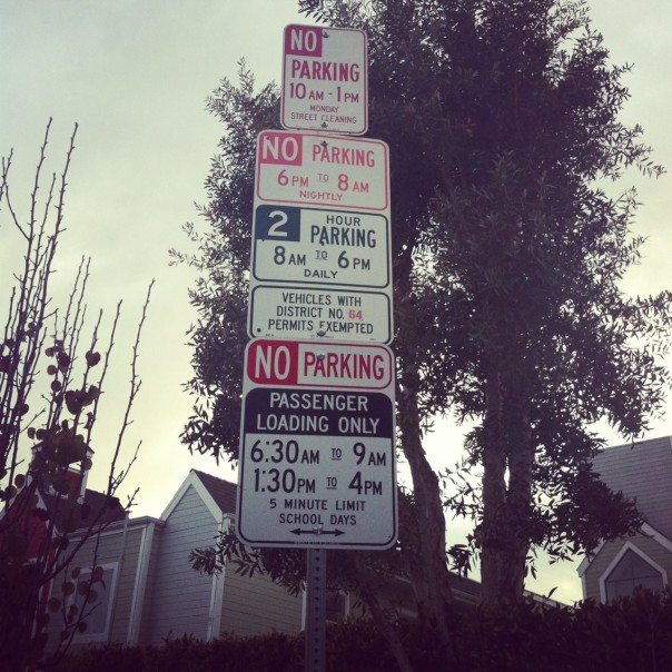 Parking signs..