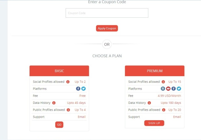 Choosing between basic and premium plans