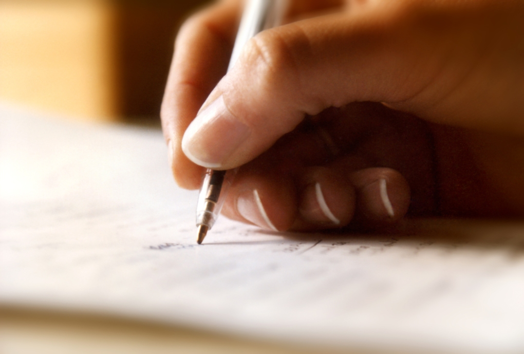 Penning down one's thoughts