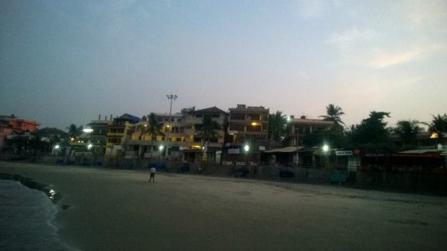 The numerous restaurants and coffee shops dotting the beach landscape